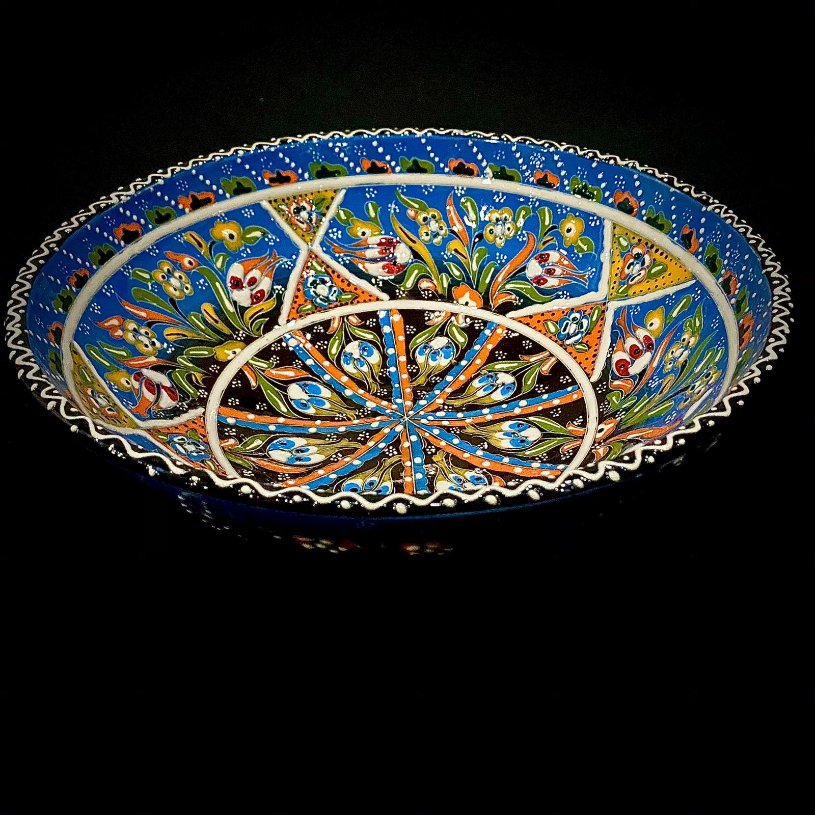Decorative ceramic Turkish bowl