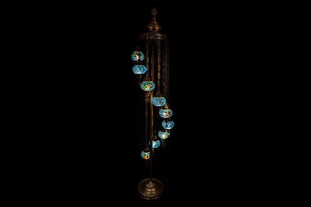 9 Globe Floor Lamp