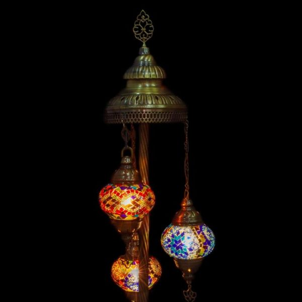 "3 Globe Floor Lamp 6"""