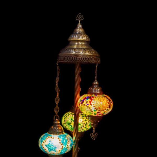 "3 globe Floor Lamp 10"""